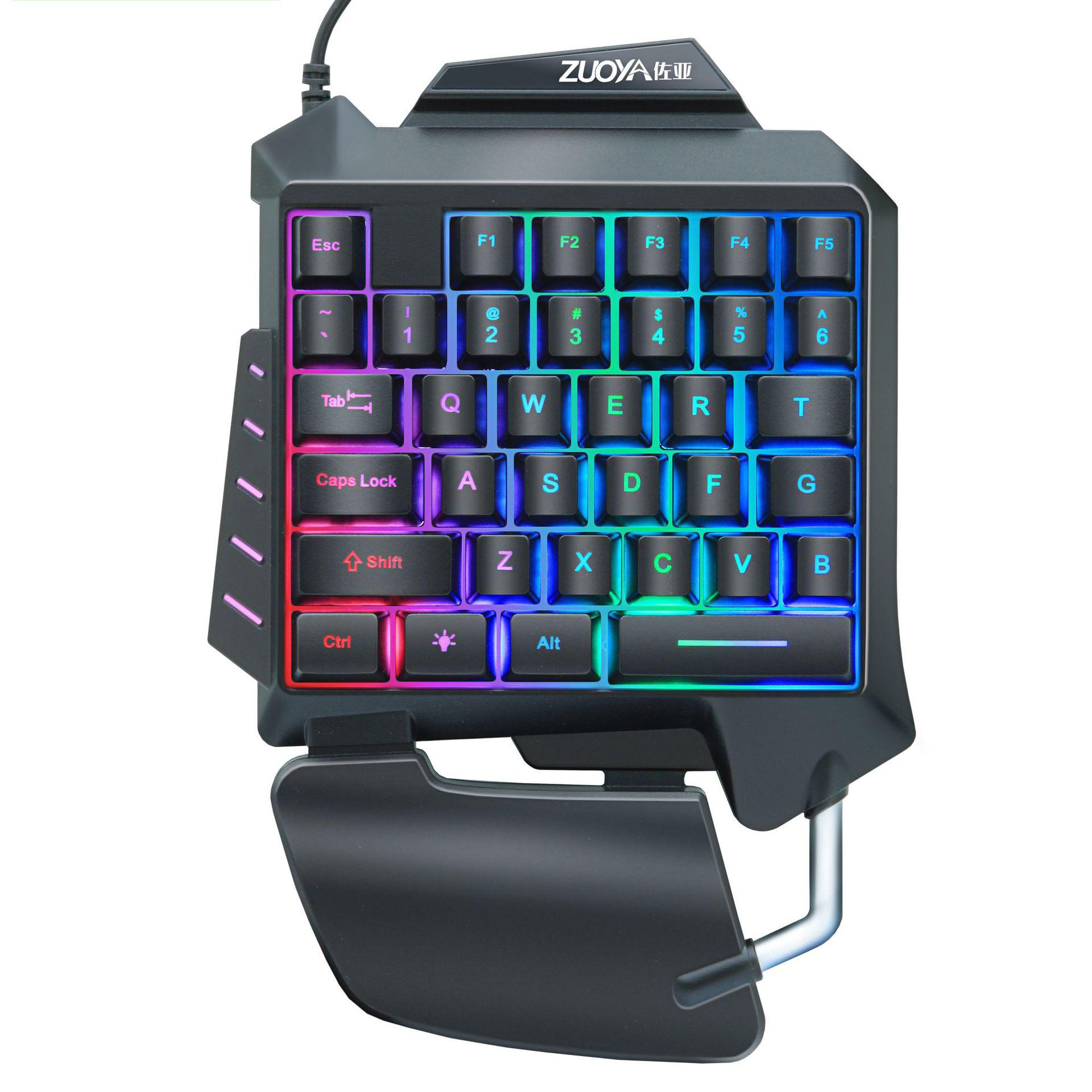 ZUOYA G92 Проводная одноручная игровая RGB-мембрана Клавиатура 35 клавиш One Ручная эргономичная игровая клавиатура для портативных ПК Pro PUBG Gamer