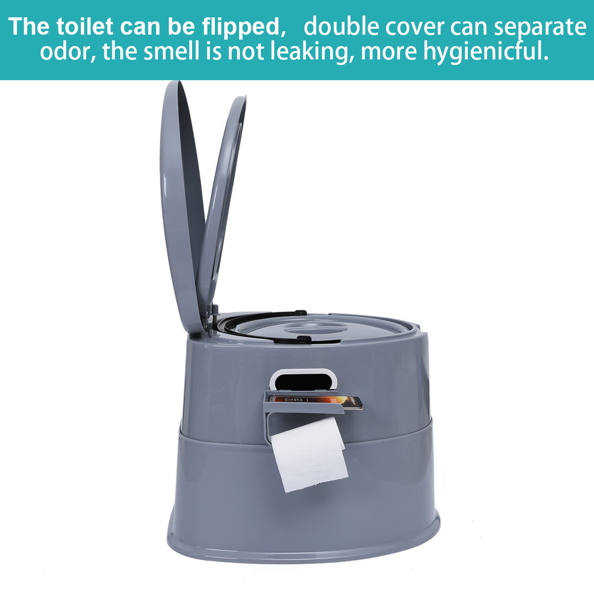 Portable Toilet Bowl Extra Strong Durable Support Adult Senior 9