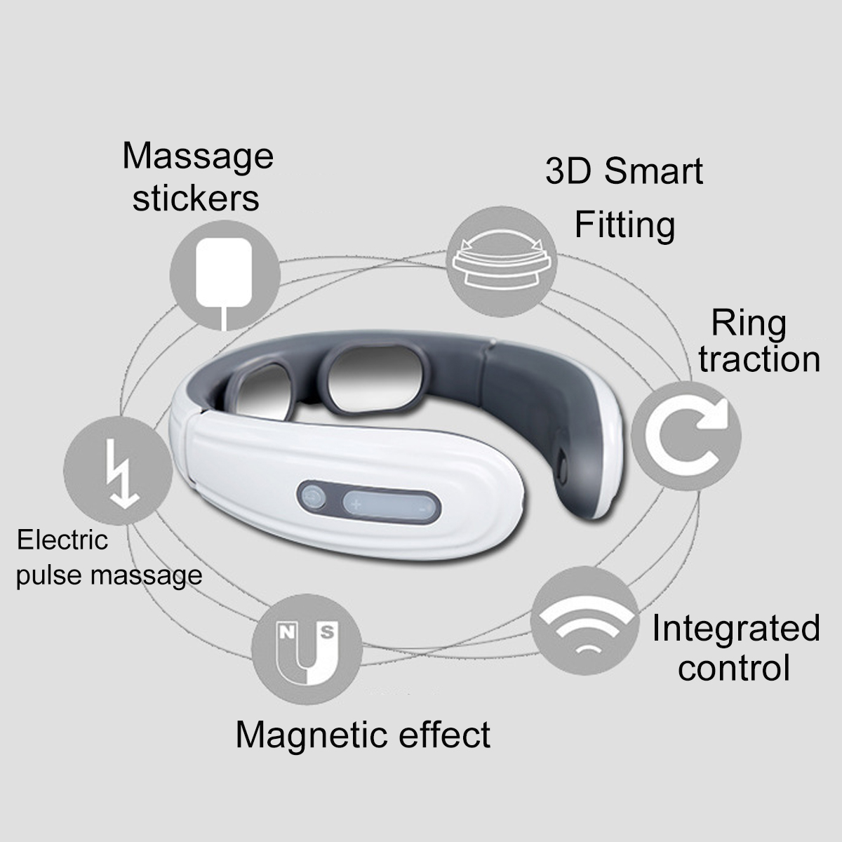 15 Gear Smart Viabration Neck Cervical Pain Relief Massager Electromagnetic Shock Massage With Far Infrared Heating Electric Massager