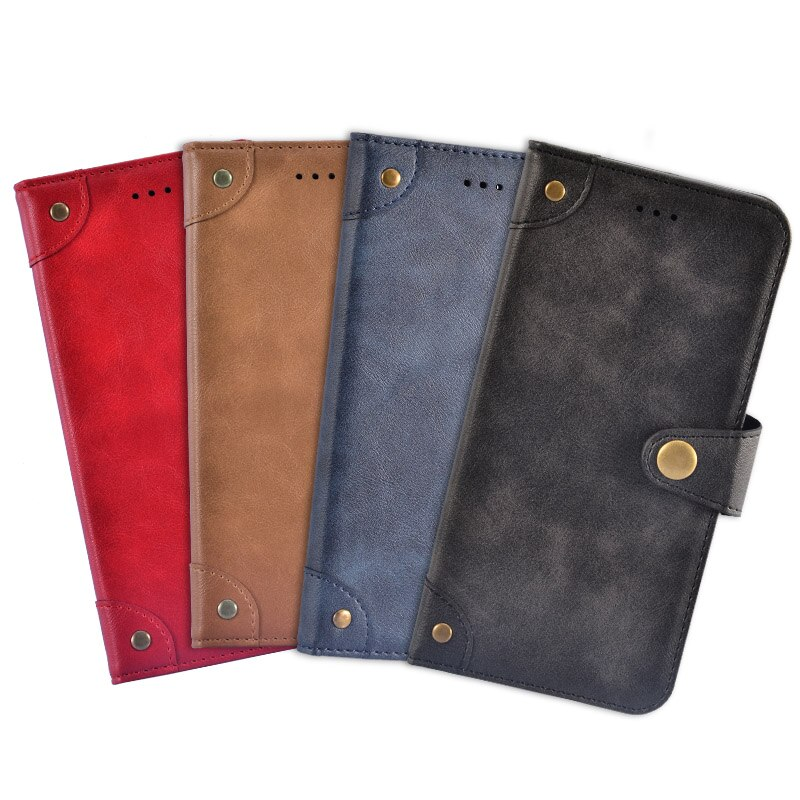 Bakeey Retro Flip with Card Slot Holder PU Leather Full Body Shockproof Protective Case for Doogee N10
