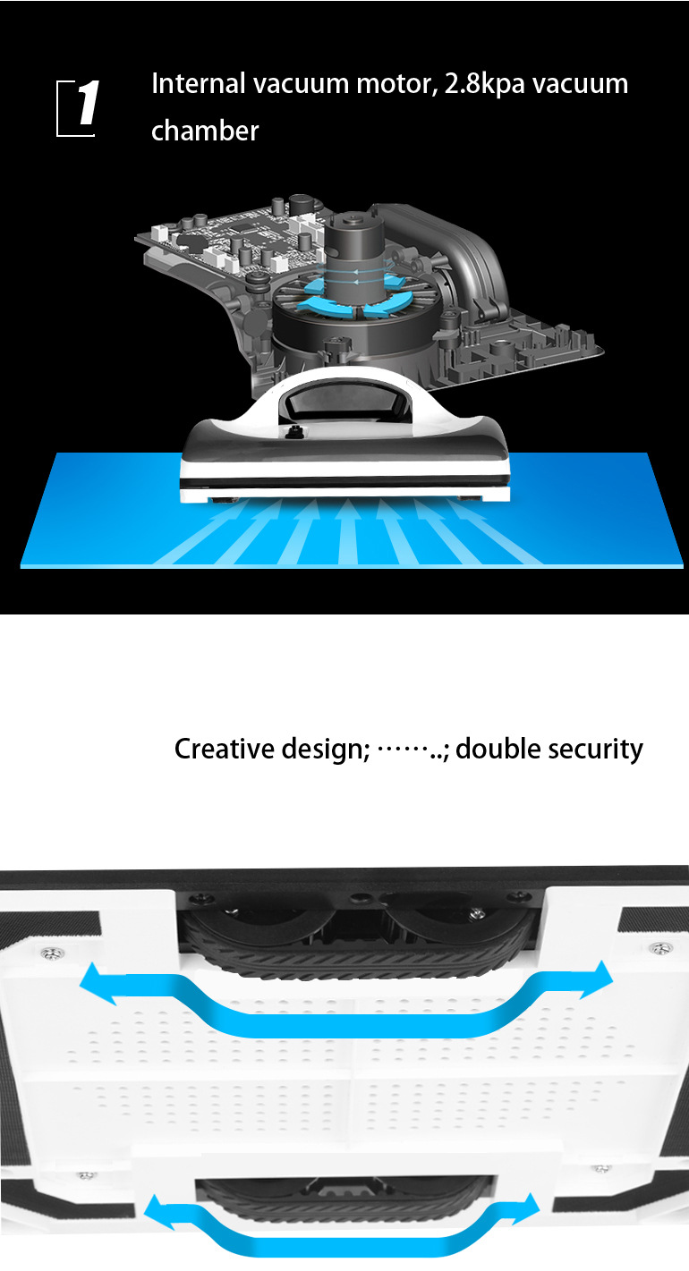 Liectroux X6 Window Cleaning Robot Magnetic Cleaner Anti-falling Remote Control Automatic Glass Wash 3 Operating Modes