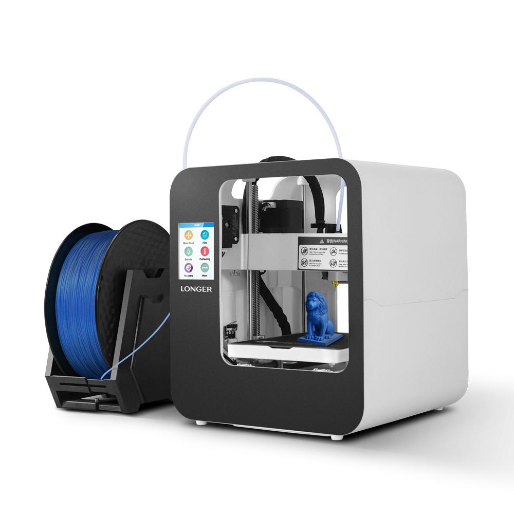 Мини-настольный3D-принтерLonger®cube2длядетей. Поддержка при отключении питания. Продолжить печать. Размер печати 120 мм * 140 мм * 10