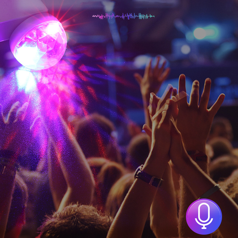 Bakeey 4W 4 Mode Mini Laser LED Disco Ball lights Stage Lighting USB Interface Party Sound Control Atmostphere Light