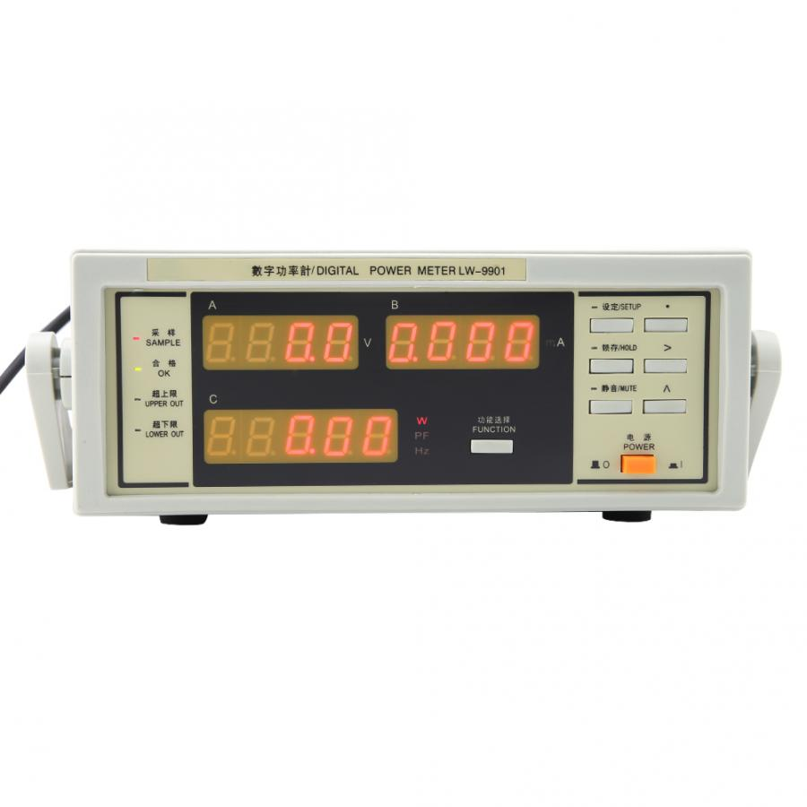 LW-9901 Watt Meter Digital Power Meter with BNC Connect Cable AC100-240V 300V 20A Frequency Meter