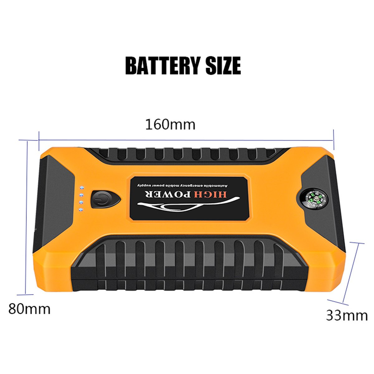 99800mah 600A Peak Car Jump Starter Lithium Battery with LED SOS Mode 12V Auto Battery Booster 20
