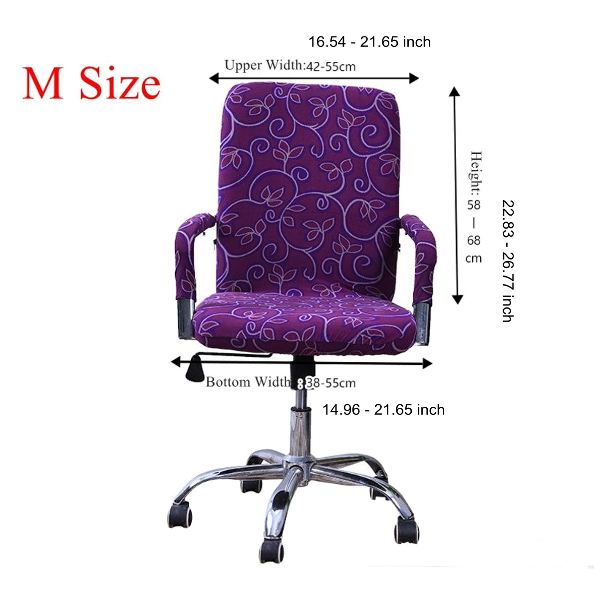 Spandex Office Computer Chair Covers Stretchable Rotate Swivel Chair Seat for Office Home 9