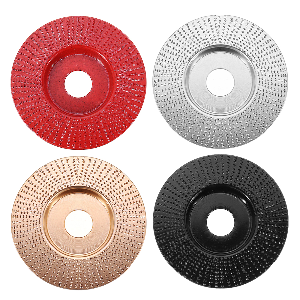 Drillpro 110mm Tungsten Carbide Wood Shaping Disc Carving Disc 22mm Bore Sanding Grinder Wheel for 100 115 Angle Grinder