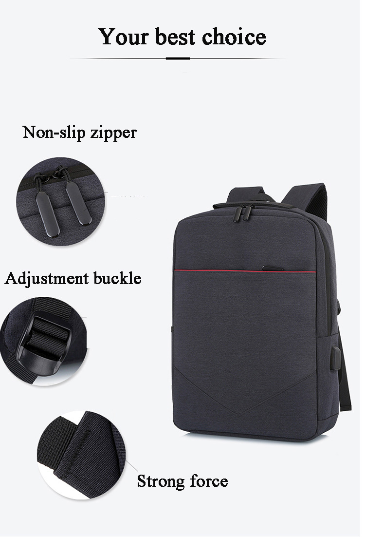 FLAMEHORSE Laptop Multifunctional Pure Color Business Casual Backpack USB Charging Trolley Bag 11