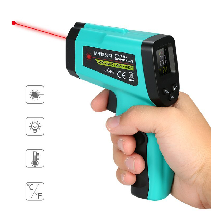 -58℉~1022℉ -50℃~550℃ Non-Contact Digital Infrared Thermometer LCD Display Temperature Tester IR Laser Point Gu n Meter