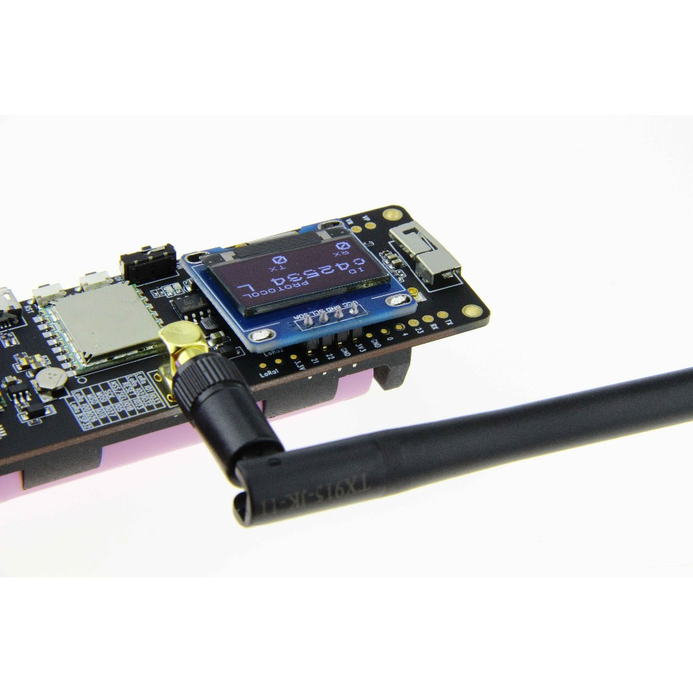 LILYGO® TTGO T-Beam ESP32 433/868/915/923Mhz WiFi Wireless bluetooth Module GPS NEO-6M SMA LORA32 18650 Battery Holder With OLED
