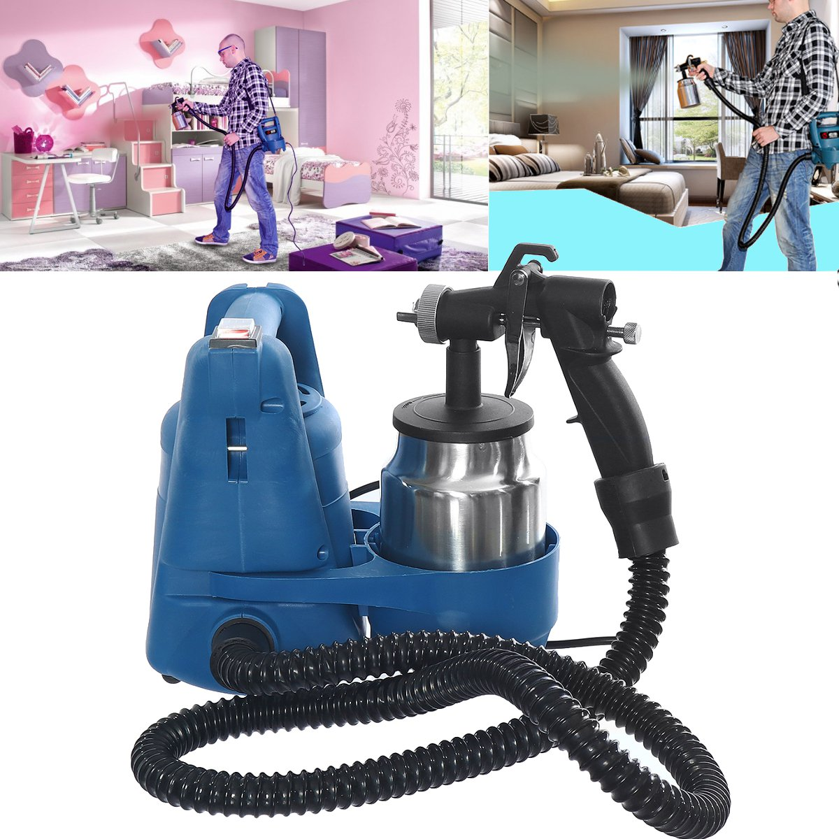 650W Electric Paint Sprayer System Zoom High Pressure G un Spray Wall Painting Decorations