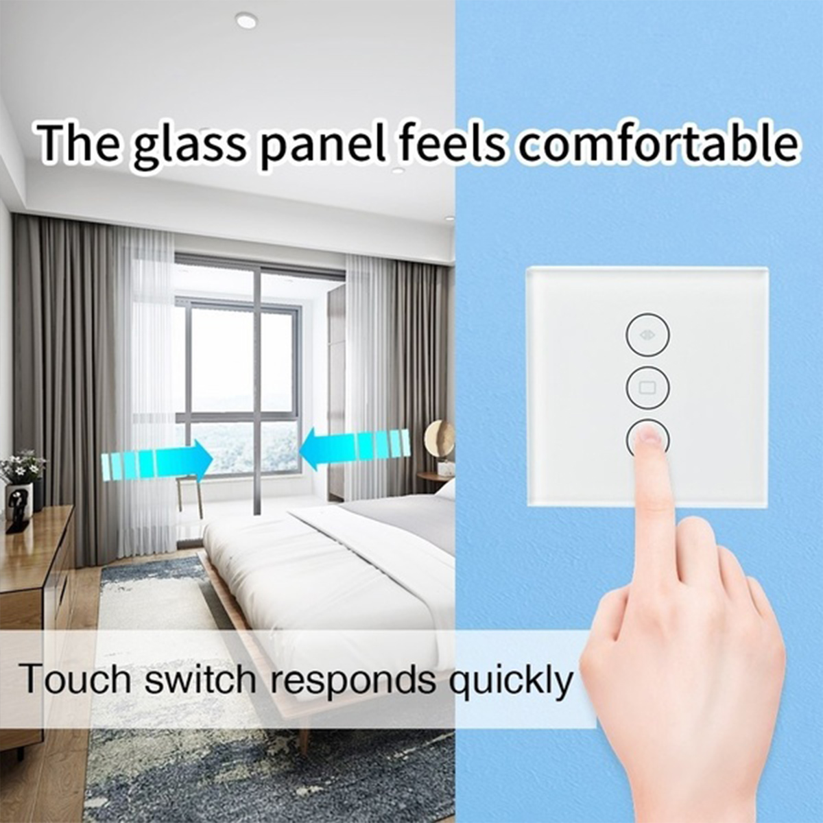 Original WiFi Wall Smart Curtain Switch Touch Panel Phone