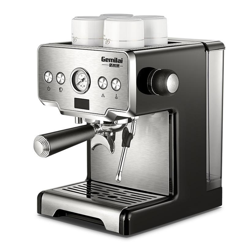 Кофеварка Gemilai CRM3605 Кофемашина из нержавеющей стали 15 баров Полуавтоматическая коммерческая итальянская кофеварка
