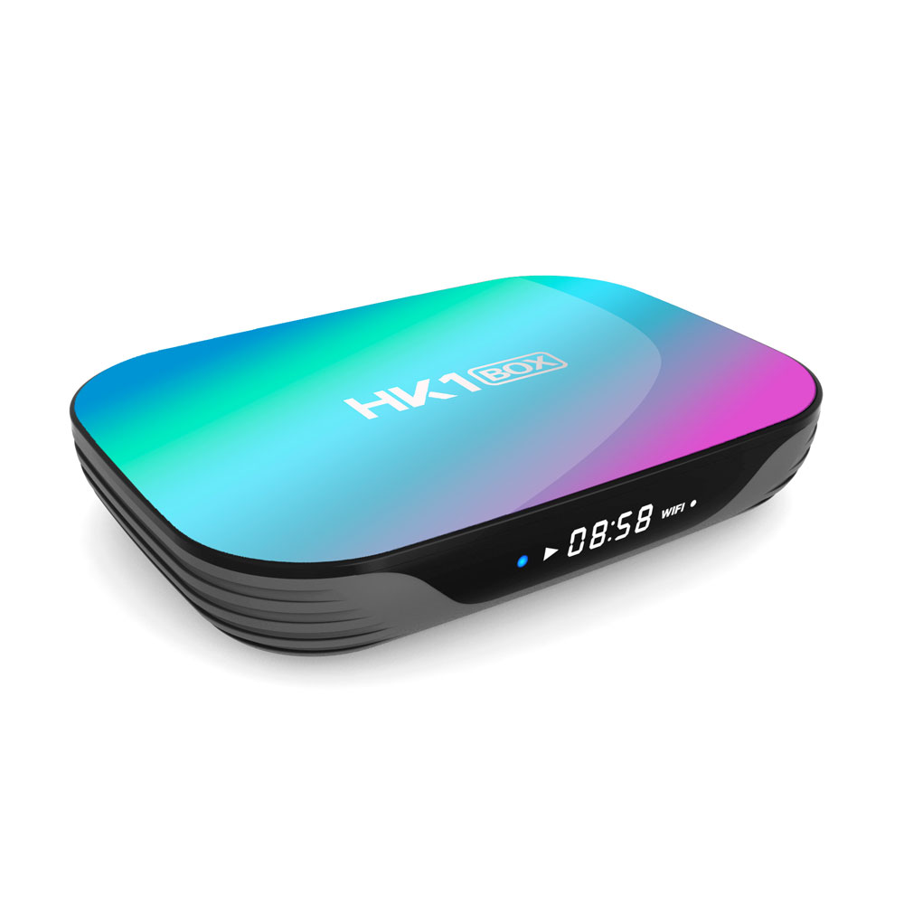 HK1 Box Amlogic S905X3 4GB RAM 128GB ROM 5G WIFI bluetooth 4.0 1000M LAN Android 9.0 4K 8K H.265 TV Box Support Google Assistant