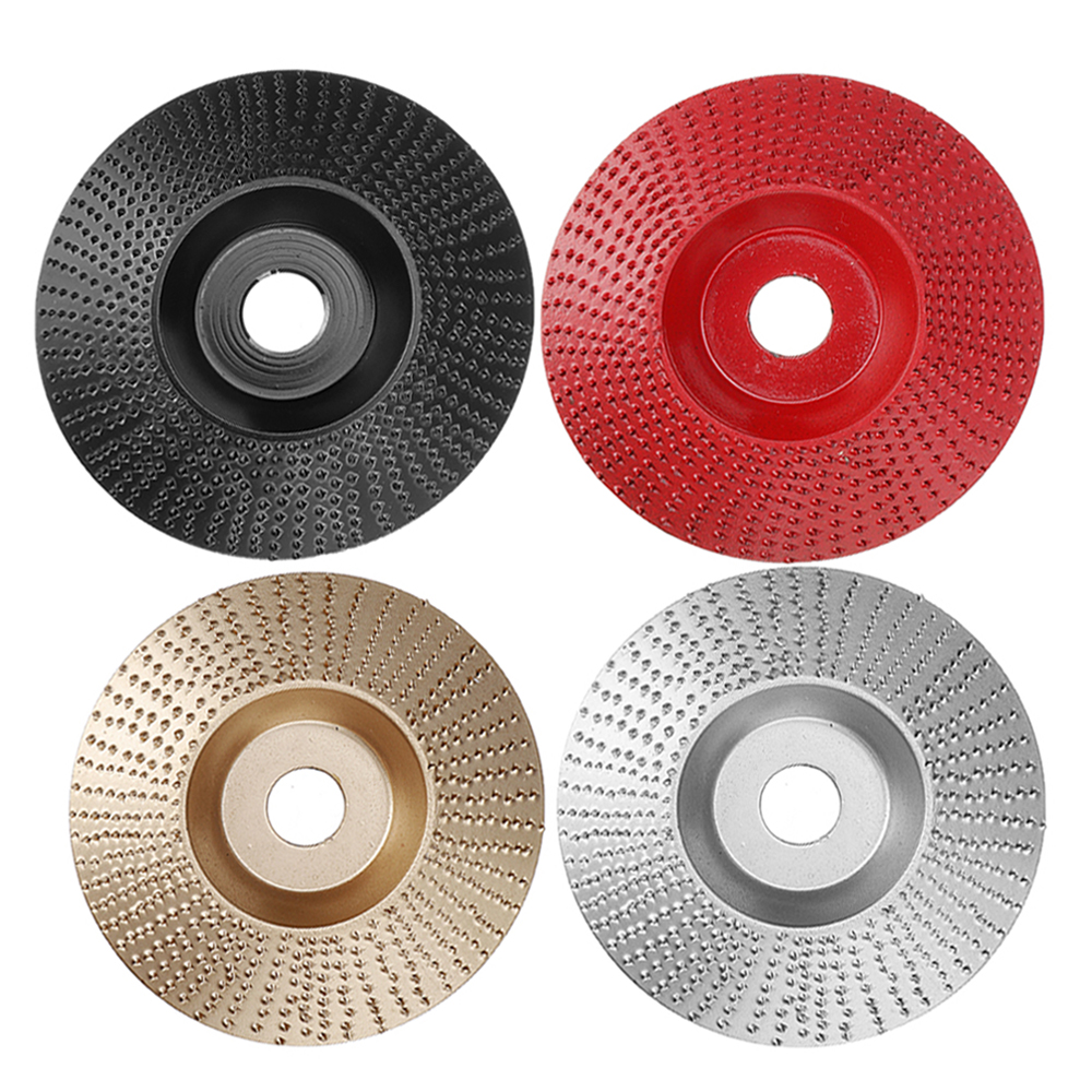 Drillpro 100mm Tungsten Carbide Wood Shaping Disc Carving Disc 16mm Bore Sanding Grinder Wheel for 100 115 Angle Grinder