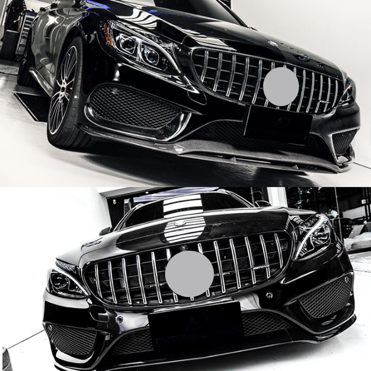 Gtr Upper Grille Grey For Mercedes Benz W205 Amg Look C200
