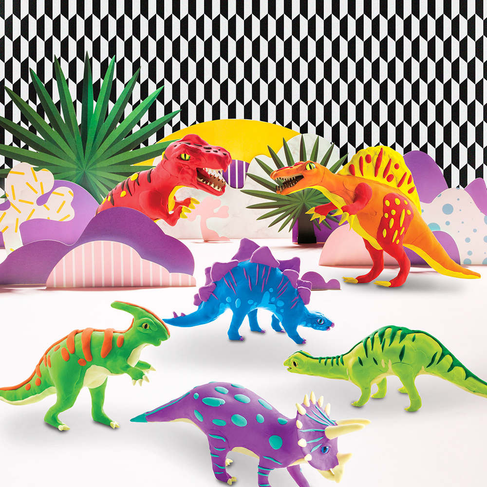 Robotime Clay Dinosaur Series 3D Puzzle Modeling Clay Children's Manual DIY Rubber Color Mud Toys 17