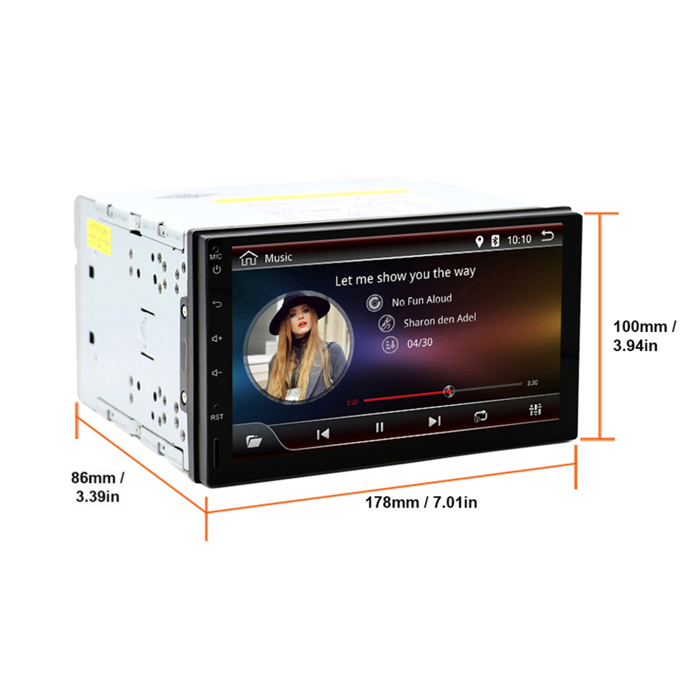 YUEHOO 7 Inch 2 DIN for Android 9.0 Car Stereo Radio 8 Core 4+32G Touch Screen 4G bluetooth FM AM RDS Radio GPS