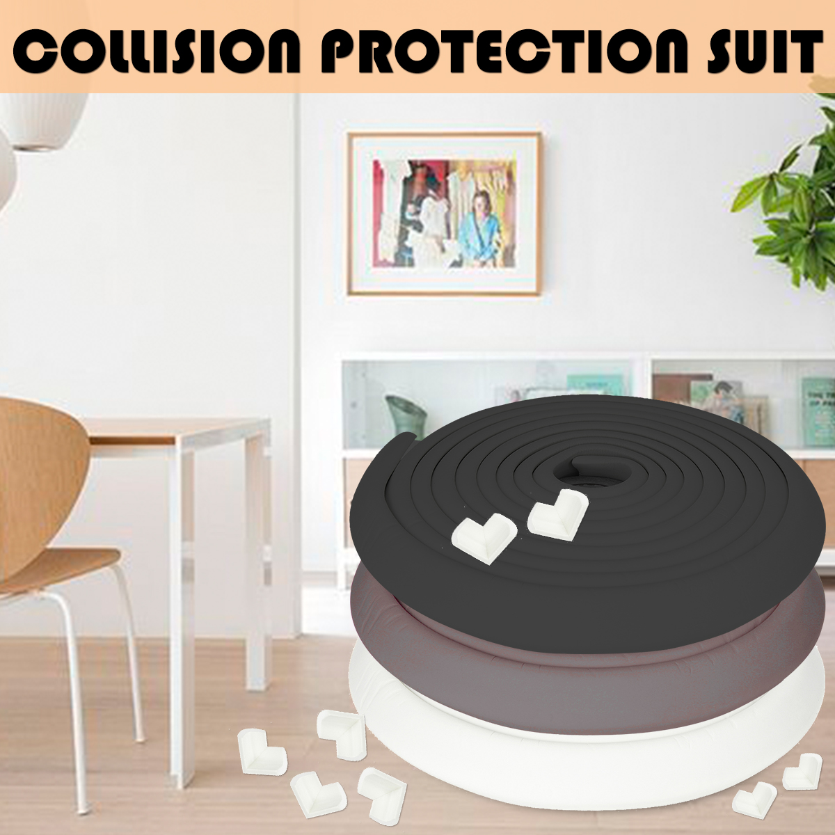 Wholesale Bulk Lot 50 Baby Proofing Corner Bumper Protectors Furniture Guards Table Clear Child Safety Cushion Side Kids Glass Sharp Edge Proof Home Desk