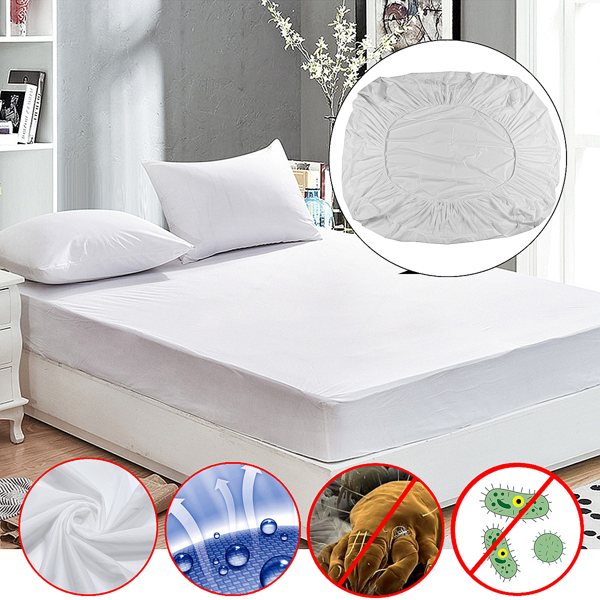 Allergens Trenton Gifts Mattress Protector Mites Protect Against Bed Bugs King