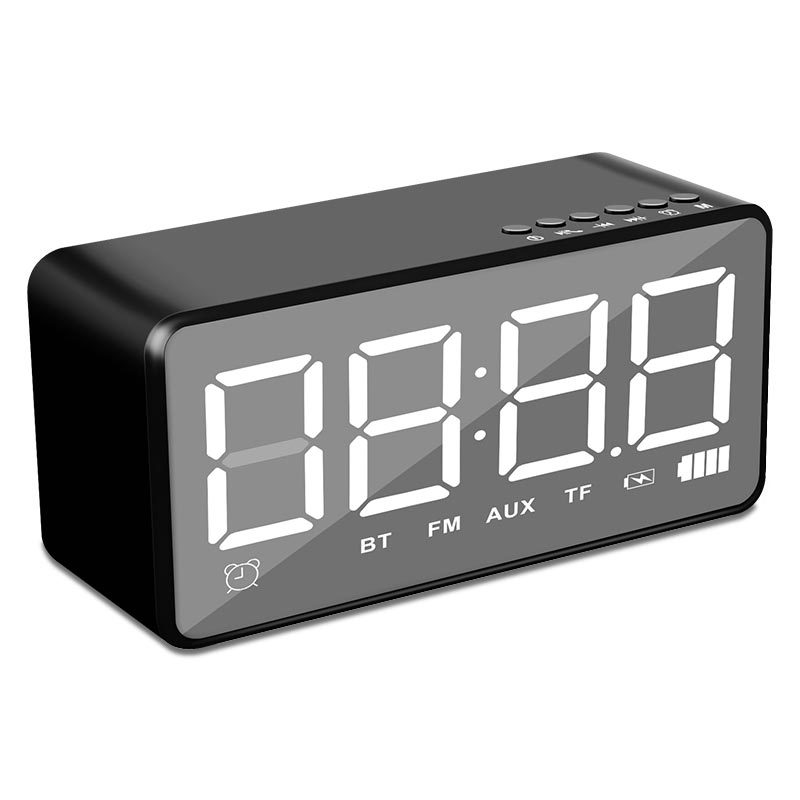 Bakeey Q31 Wireless bluetooth 5.0 Speaker LED Display Dual Alarm Clock FM Radio TF Card Stereo Speaker with Mic