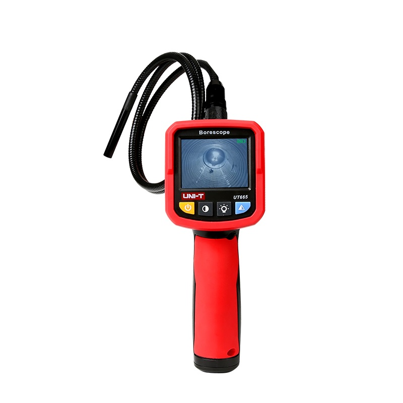 UT665 Industrial Snake Borescope Professional Handheld 2.4 Inch Borescope IP67 Waterproof Vedio Inspection Camera