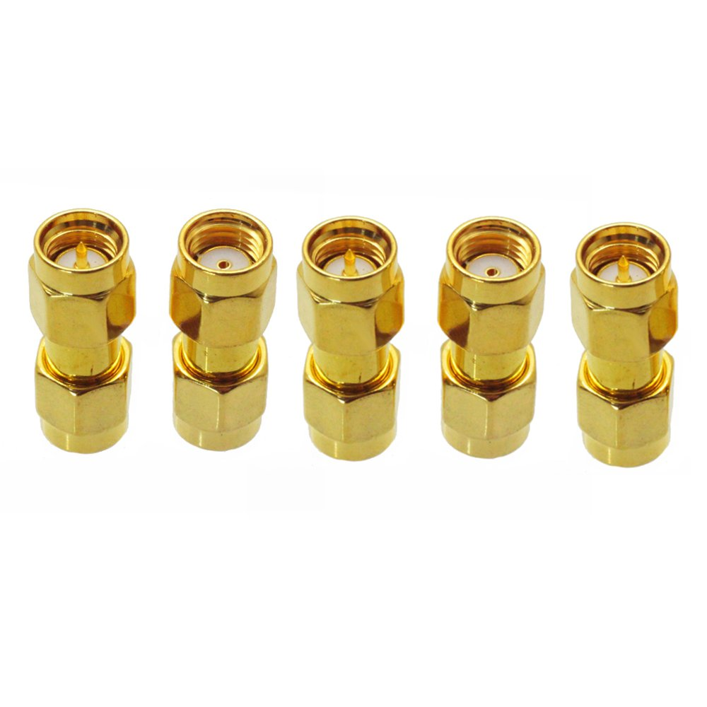 5PCS SMA Male to RP-SMA Male Adaptor RF Connector Straight For FPV RC Drone