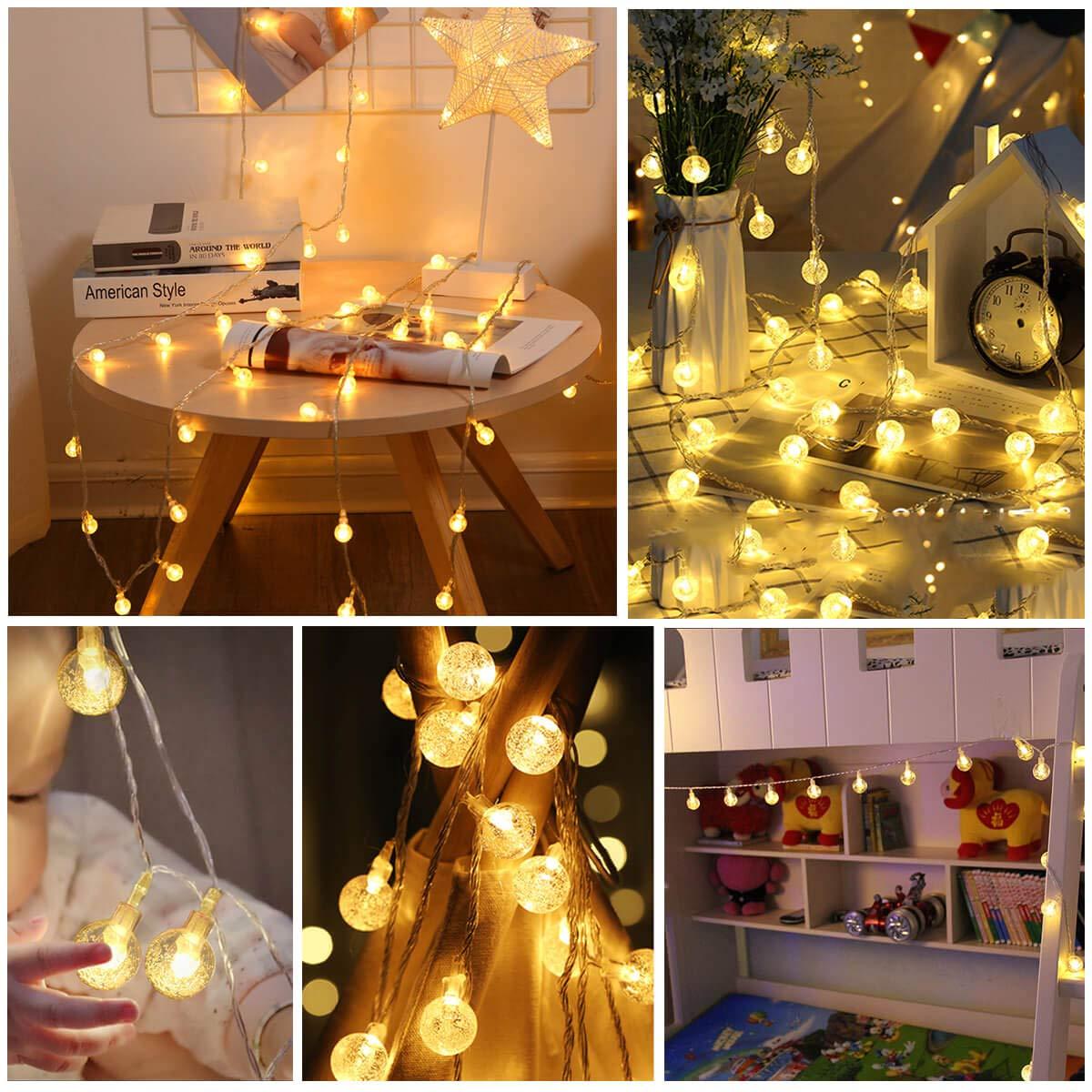4 М Теплый Белый Colorful Мяч Звездный Лампа 28LED Струнный Свет для Сад Рождество Свадебное Партия AC110V AC220V
