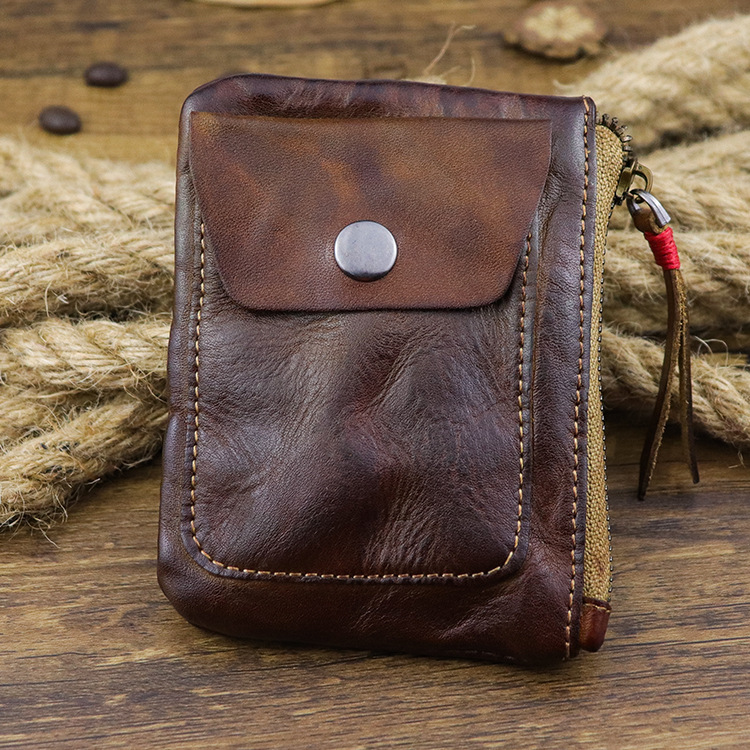 Men Genuine Leather Vintage Wallet