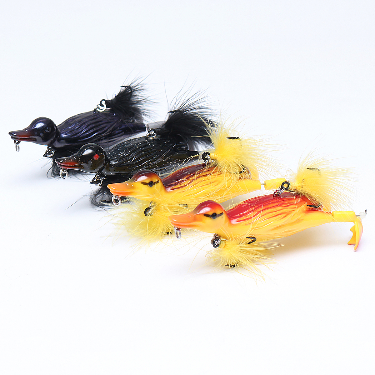 ZANLURE 3D water Fishing Lure Duck Floating Treble Hooks For Bass/Pike/Catfish /Musky