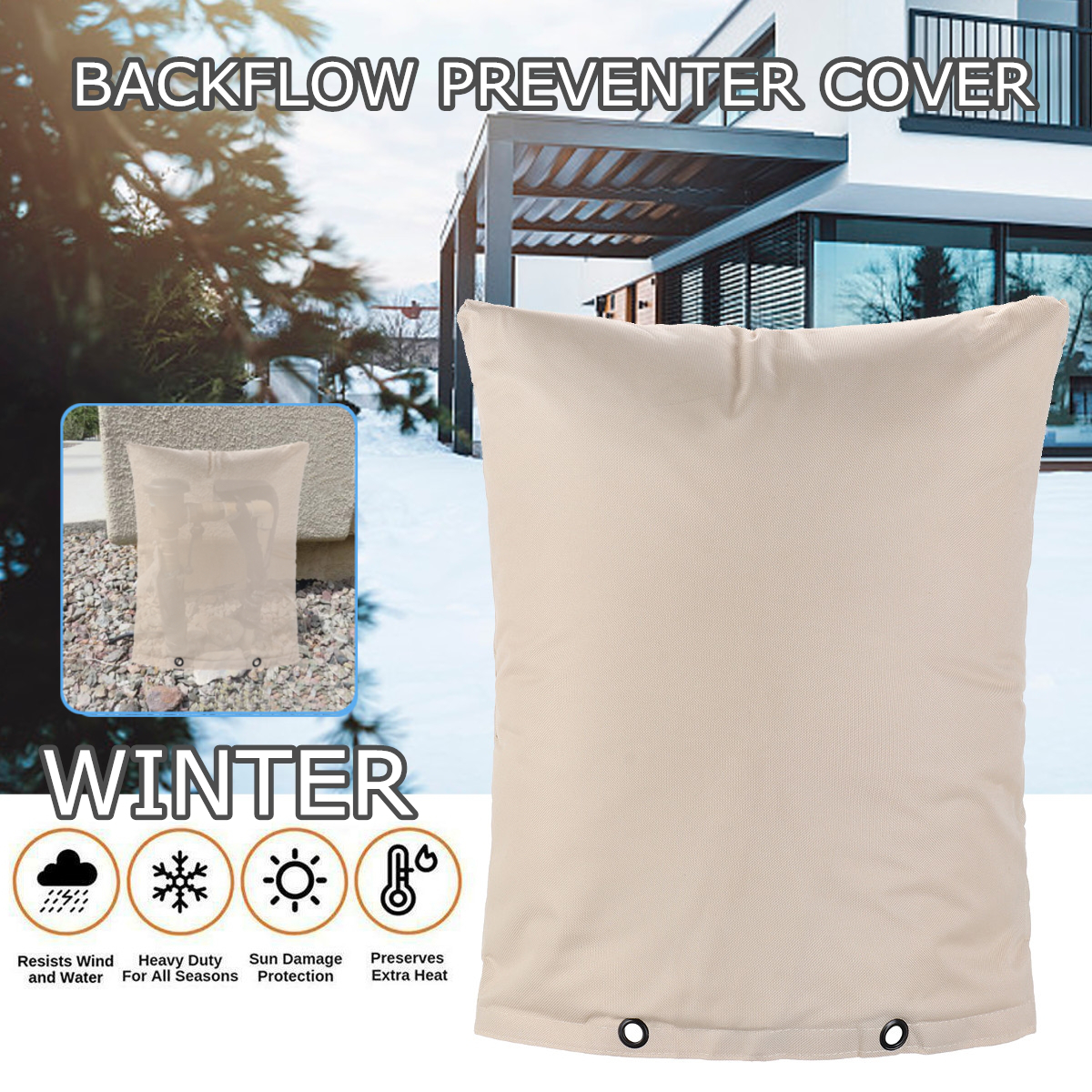 Backflow Preventer 16x20 inch Irrigation Return Winter Cover Protection Bag