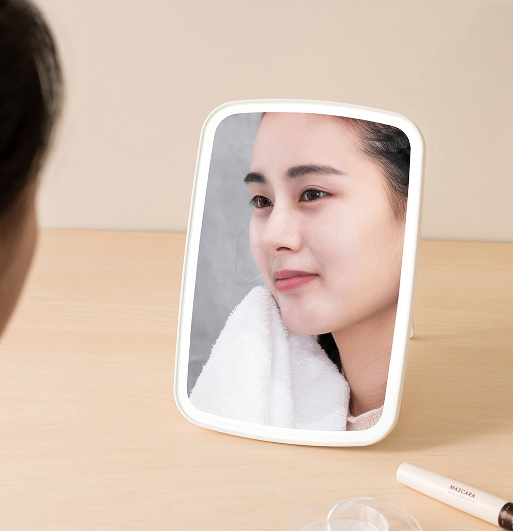 Portable Makeup Mirror | Rechargeable Desktop LED Light | USB Folding Touch Dimmable Lamp