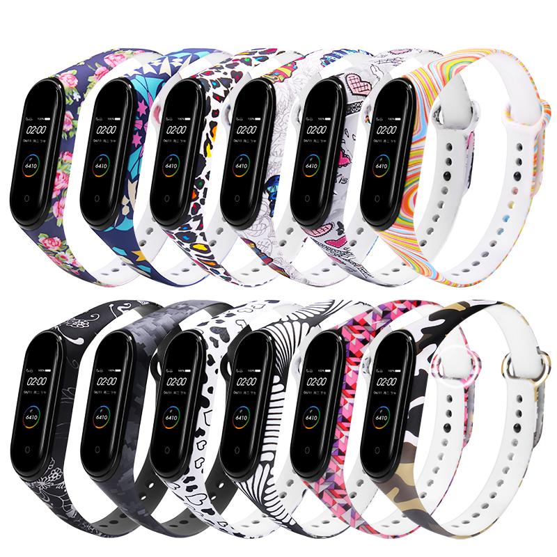 Красочные часы Шаблон Стандарты Замена ремешка для часов Xiaomi Miband 4 Miband 3
