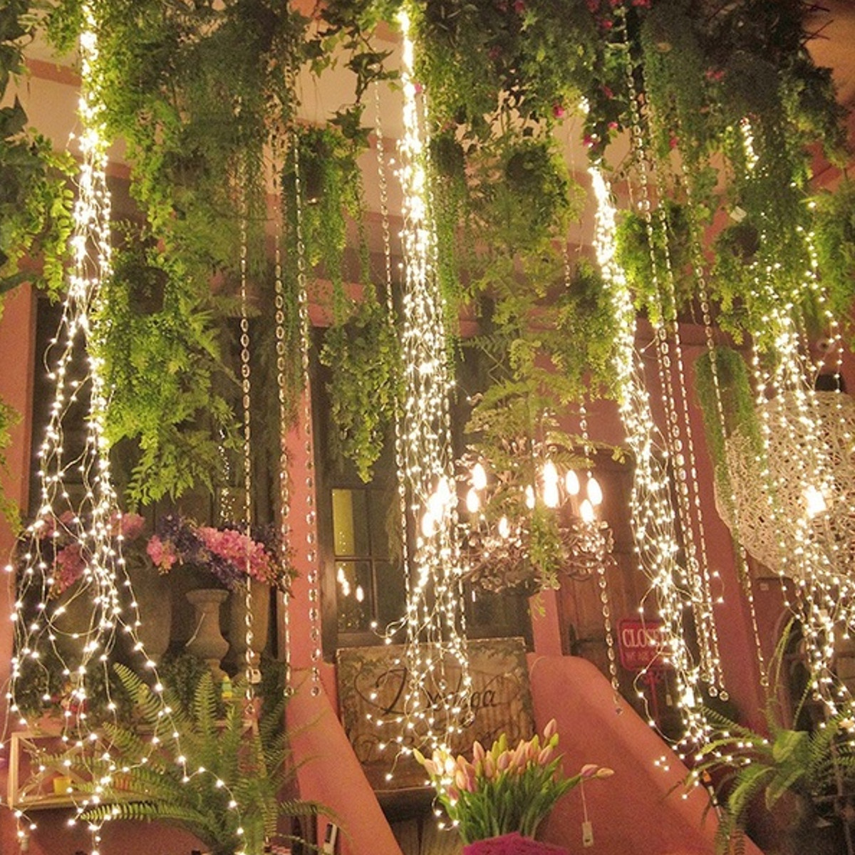 Battery Powered Copper Wire Warm White 100 LED String Fairy Light Christmas Party Outdoor Decor