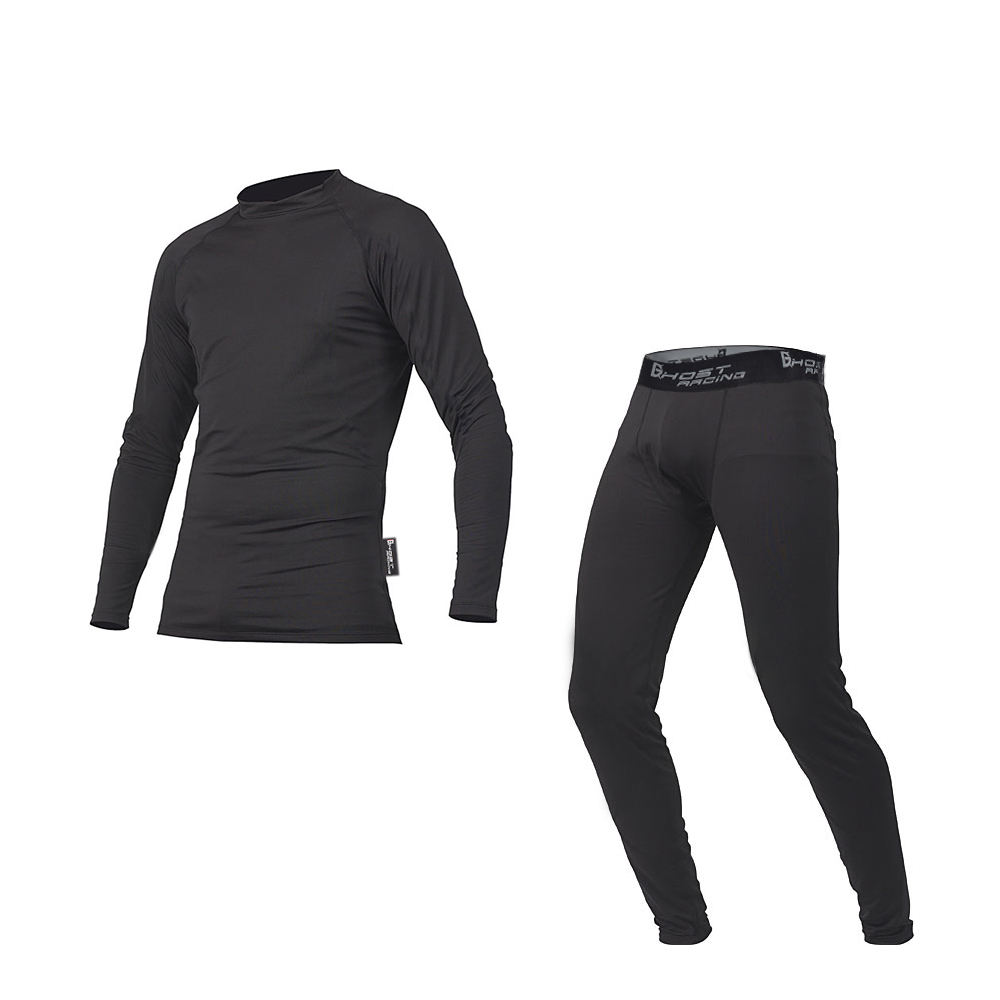 GHOST RACING Men Breathable Sweatshirt Suit Clothes Motorcycle Shirts Racing Sport Sweaters Riding Black