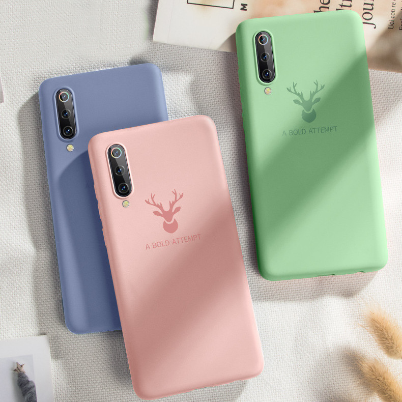 Bakeey Ultra Thin Liquid Silicone Deer Pattern Soft Protective Case For Xiaomi Mi A3 / Xiaomi Mi CC 9e