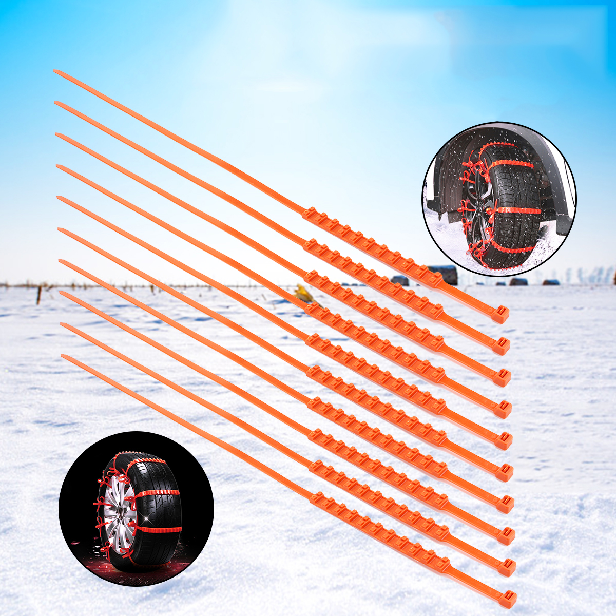 Колесная шина Snow Anti-Skid Nylon Цепь Универсальная многофункциональная износостойкая