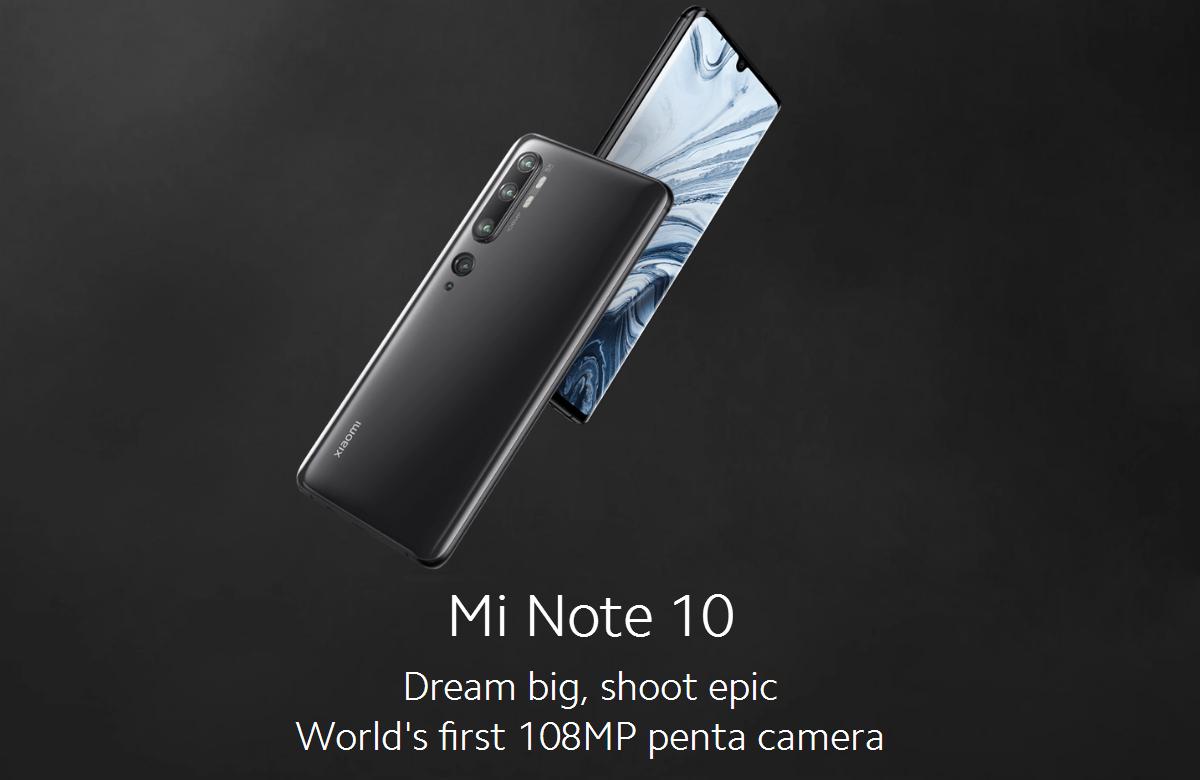 Xiaomi Mi Note 10 Global Version 6.47 inch 108MP Penta Camera NFC 5260mAh 6GB 128GB Snapdragon 730G Octa Core 4G Smartphone