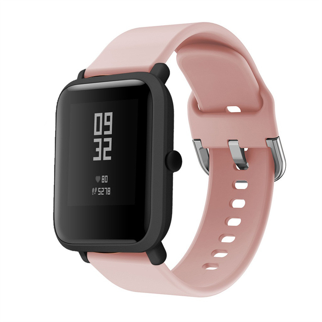 Bakeey 20MM Colorful Silicone Watch Band for Amazfit Bip/Bip Lite Smart Watch