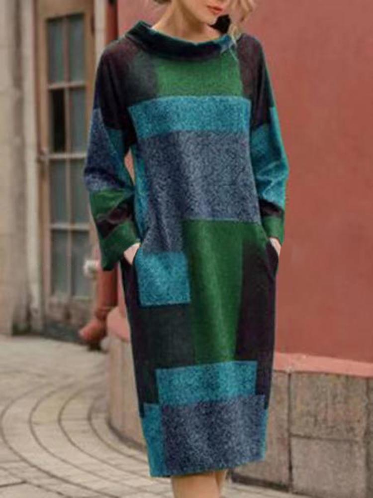Eachine1 / Sudadera de manga larga con parche de color estampado para mujer