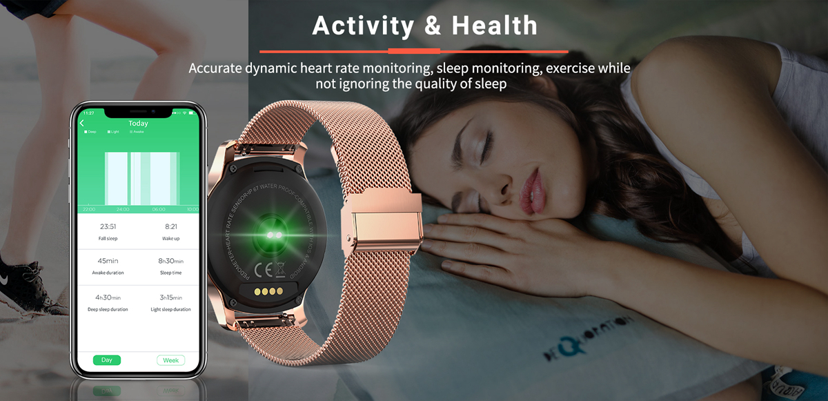 Bakeey R2 Full Round Touch Custom Dial bluetooth Call Blood Pressure Voice Assistant Music Player Smart Watch