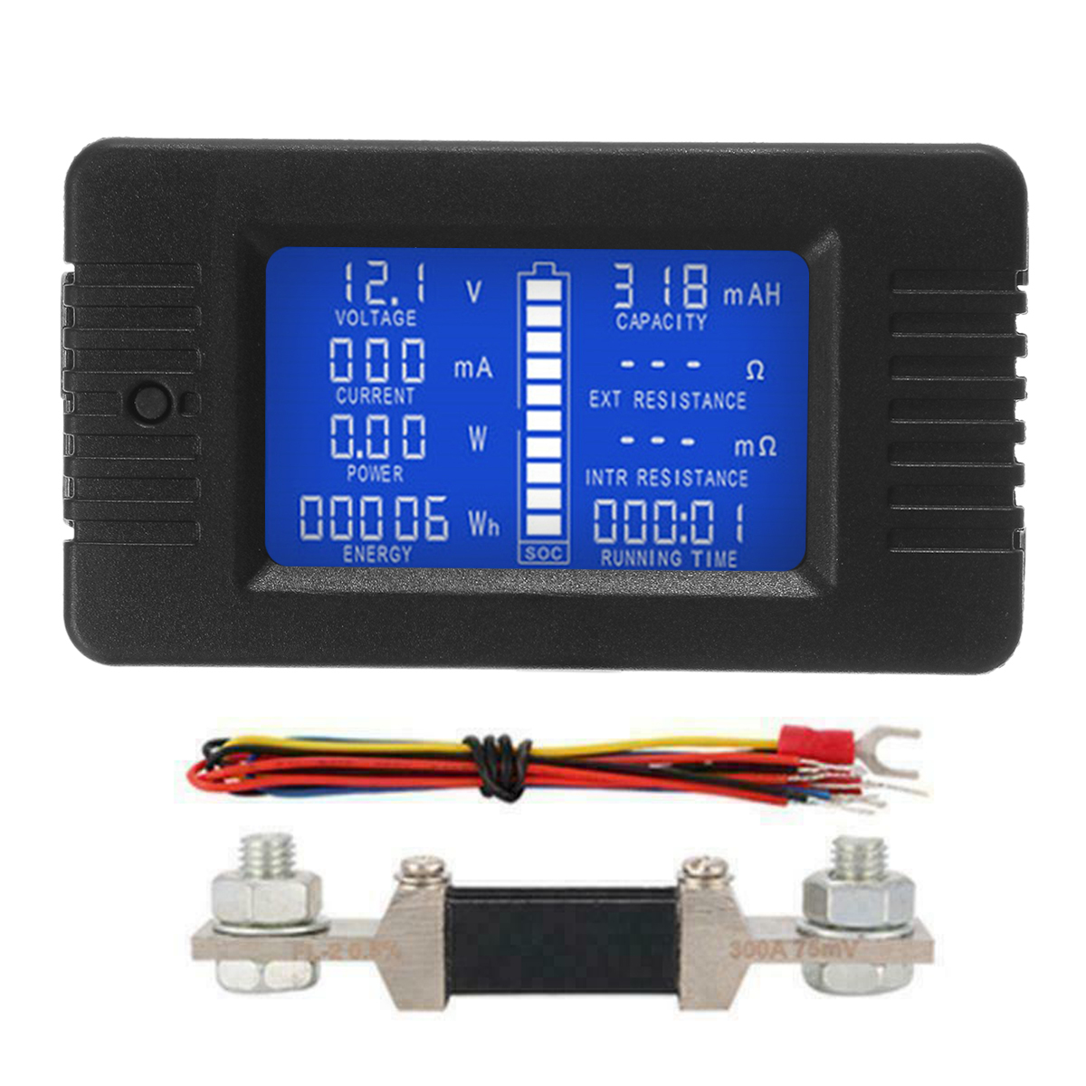 USB LCD Detector Voltmeter Ammeter Power Capacity Battery Current Meter Test Bs