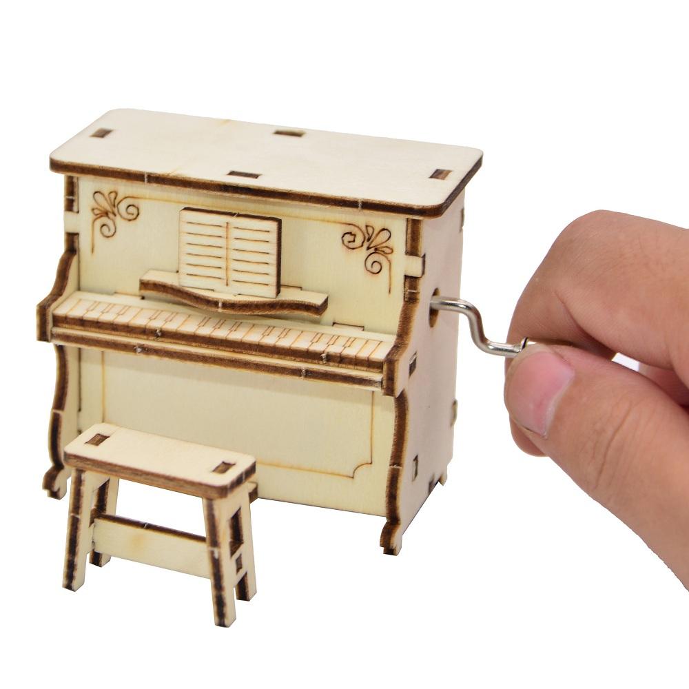 Сделай сам Собранная Музыка Коробка Creative Piano Ручная Музыка Коробка для Детей