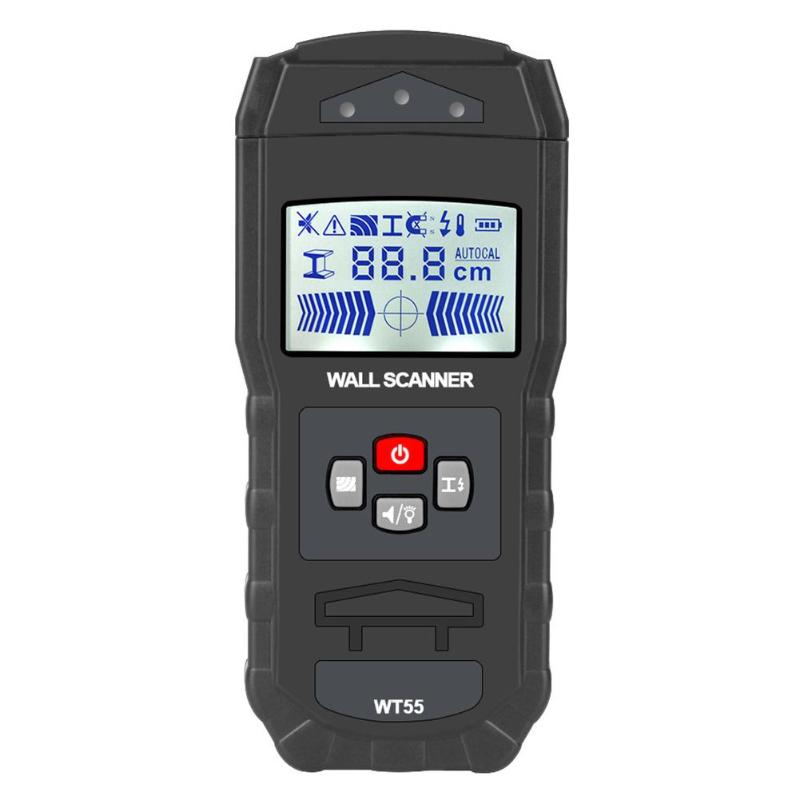 Digital Display Wall Scanner Detector Detecting Wire Live Cable Water Pipes Metal Materials Electronic Measuring Instruments