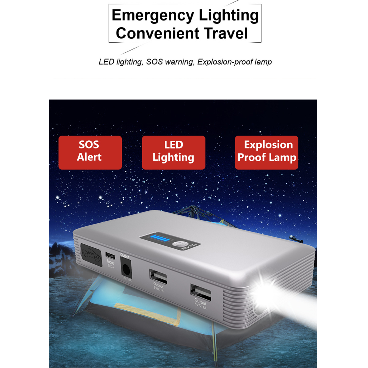 JX36 Display 98600mAh 12V Car Jump Starter Portable USB Emergency Power Bank Battery Booster Clamp 1000A DC Port Silver