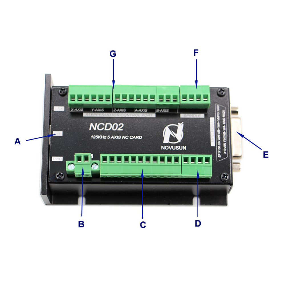 Machifit 3/4/5 Axis Stepper Motor Controller Replace Mach3 Controller Offline Motion Controller Independent Controller