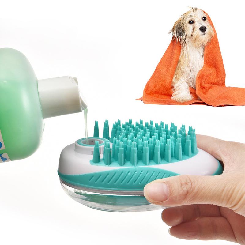 Многофункциональная чистящая расческа Кот Мыло Резиновая ванна для домашних животных Щетка Уход за собаками Набор Диспенсер для шампуней