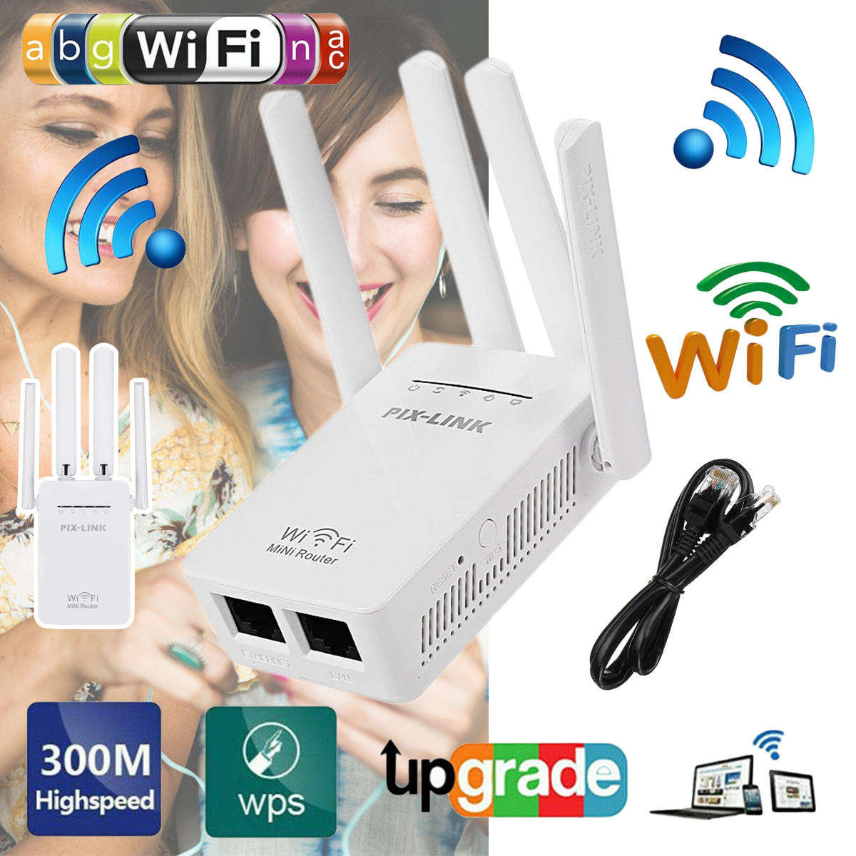 4G LTE CPE WiFi Router 150Mbps Wireless Repeater Router Signal Range Extender
