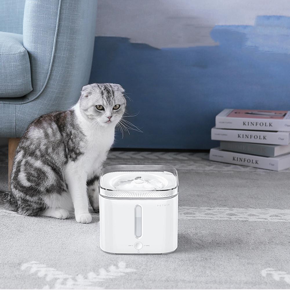 PETKIT Pet Кот Интеллектуальная автоматическая перерабатывающая питьевая машина Автоматическая поилка для воды Гидратация Питьевая Для соба фото