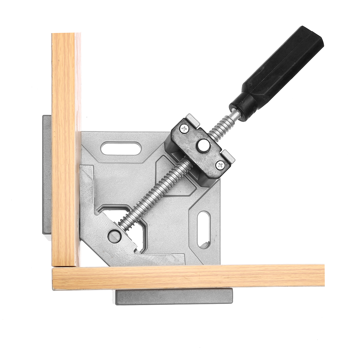 Drillpro Aluminum Alloy 90 Degree Right Angle Clamp Single Handle Corner Frame Clamp Clip Woodworking Tools 9